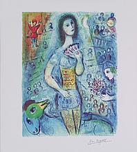 Chagall Bride with Fan (mini) Giclee