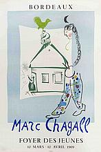 1969 Chagall House in My Village (Foyer Des Jeunes) Mourlot Lithograph