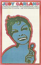 1967 Chwast Judy Garland Lithograph