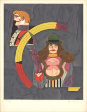 Signed 1969 Lindner Portrait No. 2 Lithograph