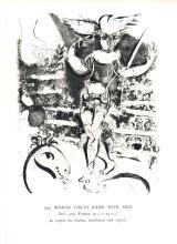 1963 Chagall Ecuyere a l'Oiseau Mourlot Poster