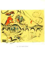 1963 Chagall Ile Saint-Louis Mourlot Poster