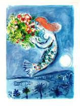 1963 Chagall La Baie des Anges Mourlot Poster