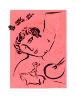 1963 Chagall Le Peintre en Rose Mourlot Poster