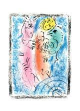 1963 Chagall Le Piege Mourlot Poster