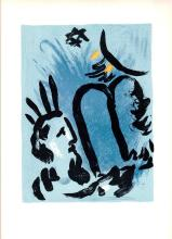 1963 Chagall Moise Mourlot Poster