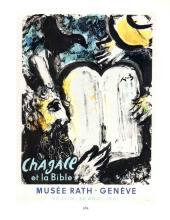1963 Chagall Moise et les Tables de la Loi Mourlot Poster