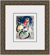 1960 Chagall Self Portrait-Frontespiece Framed Mourlot Lithograph