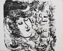 1957 Chagall The Village Mourlot Lithograph