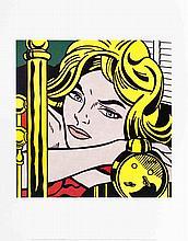 Lichtenstein Blonde Waiting Poster