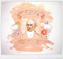 Rivers Portrait of Daniel Webster on a Flesh Field Poster