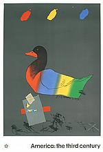 Saunders Duck out of Water Serigraph
