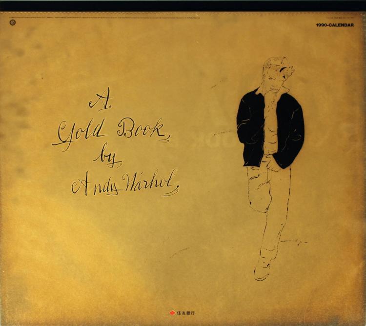 1990 Warhol A Gold Book Calendar