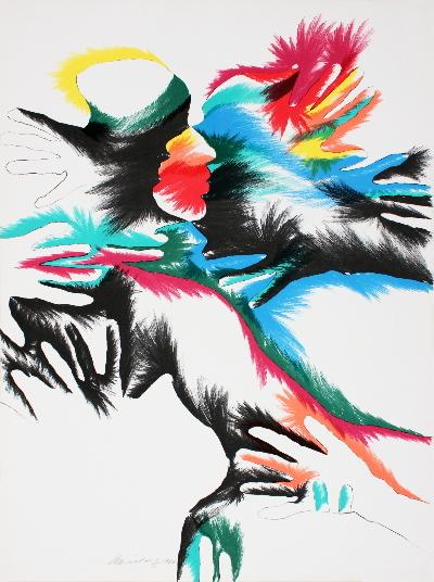 3 Signed Marisol 1980 Blackbird Love Lithographs