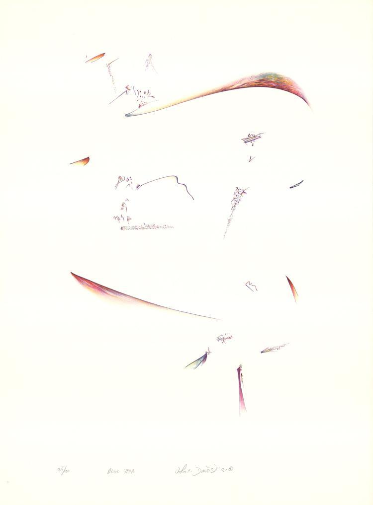 3 Signed John Dowell 1981 Aloe Vera Lithographs
