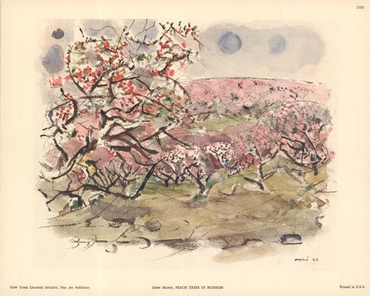 3 John Marin Peach Trees in Blossom Lithographs
