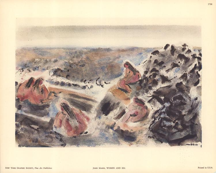 3 John Marin Women and Sea Lithographs