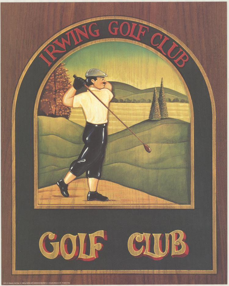 3 S. Roberts 1998 Irwring Golf Club Posters