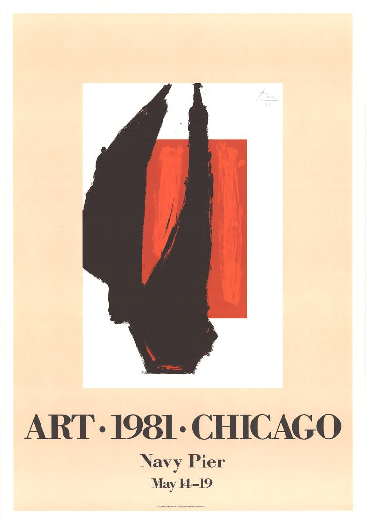 400 Robert Motherwell 1981 Art Chicago Lithographs