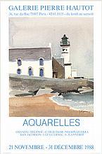 1988 Guernec Aquarelles Poster