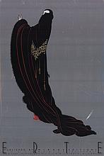 1980 Erte Black Empress Poster