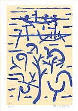 1995 Klee Boats in the Flood Serigraph