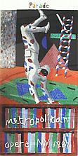 1981 Hockney Harlequin from Parade Serigraph