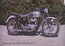 Eriksson Triumph Tiger Super America T110 650c 1957 Poster