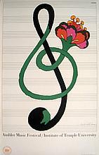 Signed Glaser Ambler Music Festival Lithograph