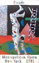 1981 Hockney Harlequin from Parade Poster