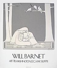 Signed 1978 Barnet Paean Serigraph