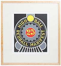 Signed 1997 Indiana Highball on the Redball Manifest Framed Serigraph