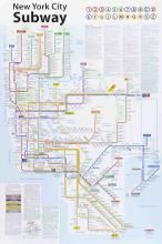 100 John Tauranac 2013 New York City Subway Map Posters