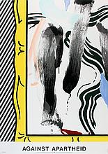10 Roy Lichtenstein 1983 Against Apartheid Lithographs