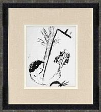 1957 Chagall Bouquet with Hand Framed Lithograph