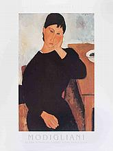 Modigliani Elvire Assise Accoudee a une Table Poster