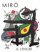 1972 Joan Miro A L'encre Mourlot Book