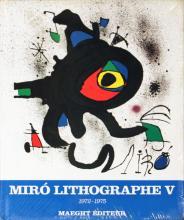 1975 Miro 1972-1975. Volume 5, Lithographs V (French) Book