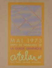 Signed 1973 LaCroix La Grande Ceramique Lithograph