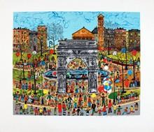 Signed Arc de Triomphe Lithograph
