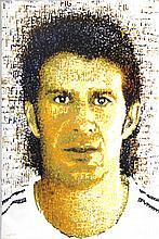Signed Britz Luis Figo Offset Lithograph