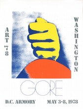 Signed 1978 Gore Art 78 Washington Offset Lithograph