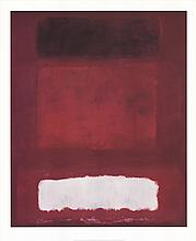Rothko Red, White and Brown Poster
