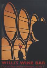 1999 Bali Willi's Wine Bar Lithograph
