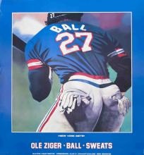 Ziger Ball and Sweats (New York Mets) Poster