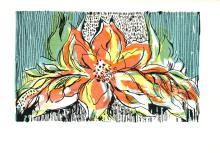 1966 Biedron Floral Design Serigraph
