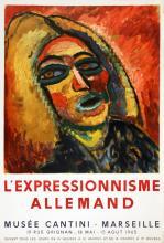 1965 Kirchner German Expressionism Mourlot Lithograph