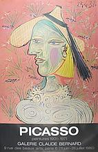 1980 Picasso Marie-Therese Walter and the Straw Hat Poster