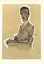 1968 Schiele Portrait of Eduard Kosmack, Seated Poster