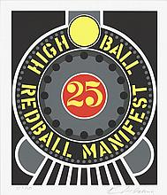 Robert Indiana - Highball on the Redball Manifest - 1997 - SIGNED